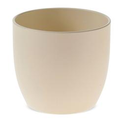 matches21 HOME & HOBBY Blumentopf Blumentopf matte Oberfläche Keramik perlmutt Ø 16 cm (1 Stück) weiß
