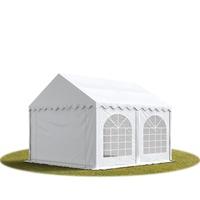 TOOLPORT Partyzelt 4x4m PVC 500 g/m² weiß wasserdicht Gartenzelt,