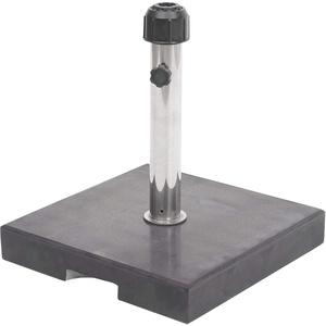 Mendler Sonnenschirmständer HWC-F92, Schirmständer Schirmhalter, Granit - 24kg eckig schwarz