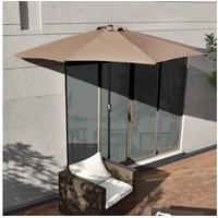 [casa.pro]® Sonnenschirm 300 x 150 cm beige halbrund