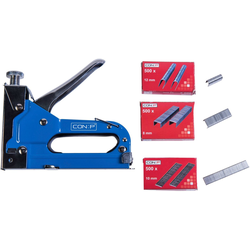 Connex Handtacker Profi-Tacker, Passend für Tackerklammern in den Größen 4 - 14 mm; für U-Klammern: 10 - 14 mm; für Nägel: 8 - 14 mm