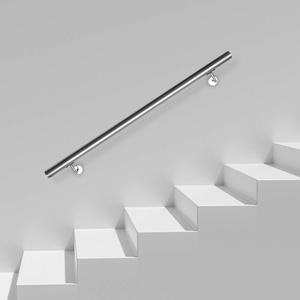 wolketon Edelstahl Handlauf, Geländer Wandhandlauf,80 cm, Rostfrei Treppengeländer Für Innen & Außen