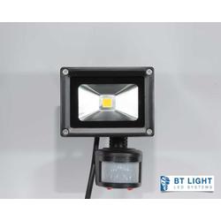 LED Fluter, LED Außenstrahler mit Bewegungsmelder, Scheinwerfer 10W (Gehäuse farbe: schwarz)