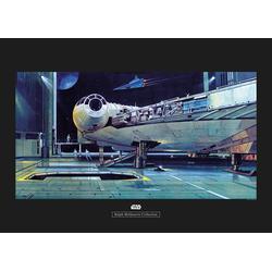 Komar Poster Star Wars Classic RMQ Falcon Hangar, Star Wars 70 cm x 50 cm