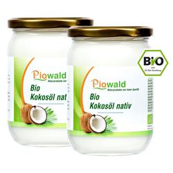 BIO Kokosöl nativ - 1000 ml (2 x 500 ml Glas)