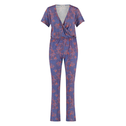 Loom&Lace Jumpsuit in Polka-Flower-Druck polkaflower blue Damen Overalls H-Typ Figurtyp-Beratung