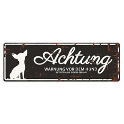 D&D Warntafel Mini Chihuahua schwarz