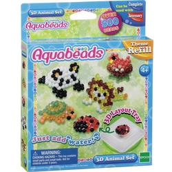 Aquabeads 3D Tier Set 500 Stück blau