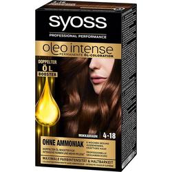 3 x Syoss Oleo Intense Haarfarbe 4-18 Mokkabraun Öl-Coloration Ohne Ammoniak