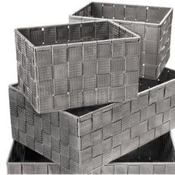 Dekor Ordnungsboxen 4er Set grau