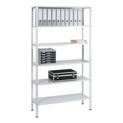 Grundregal »Multiplex 6 OH« 100 x 40 cm weiß, SZ Metall, 100x200x40 cm