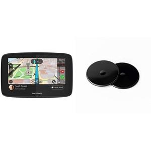 TOMTOM Navigationsgerät GO 520 (5 Zoll) & Klebe-Befestigungsplatten fürs Armaturenbrett (geeignet für alle TomTom Navigationsgeräte, z.B. Start, Via, GO, GO Basic, GO Essential, GO Premium)