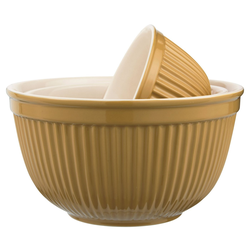 Ib Laursen Schüssel 3er Schüssel Set Schüsselsatz Keramik Mynte Mustard Senf Gelb 2074-03 Ib Laursen