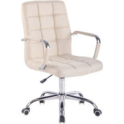 CLP Bürostuhl DELI mit Stoffbezug und hochwertiger Polsterung I Drehstuhl mit höhenverstellbarer Sitzhöhe... creme