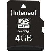 Intenso microSDHC 4GB Class 10 + SD-Adapter