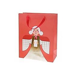 Geschenktüte, Engel, Rot, FSC Mix
