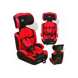 KIDIZ Autokindersitz, Autositz 9-36 kg Gruppe 1+2+3 Kinderautositz Stabil und Sicher Sitzschale Kindersitz rot