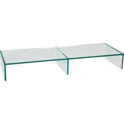 Places of Style Lowboard Glarus, aus Floatglas 110 cm x 15 cm x 38 cm