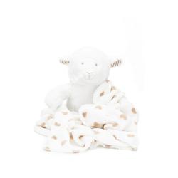 Kinderdecke Plüschtier Set Löwe mit Decke, Fillikid weiß