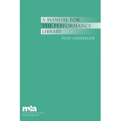 A Manual for the Performance Library als Taschenbuch von Russ Girsberger
