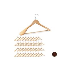 relaxdays Kleiderbügel 40 x Anzug Kleiderbügel natur