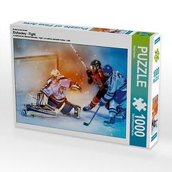 Eishockey - Fight Lege-Größe 64 x 48 cm Foto-Puzzle Bild von Peter Roder Puzzle