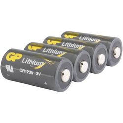 GP Batteries CR123A Fotobatterie CR-123A Lithium 1400 mAh 3V 4St.