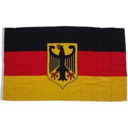 XXL Flagge Deutschland mit Adler 250 x 150 cm Fahne mit 3 Ösen 100g/m² Stoffgewicht