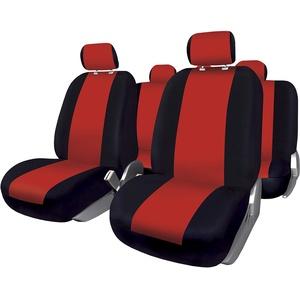 BCCORONA FUK10411 Set Komplette Autositzbezüge Sevilla, Schwarz/Rot