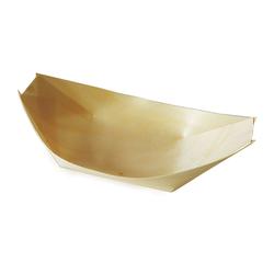 Fingerfood-Schale aus Holz schiffchenförmig 21,5 x 11 cm, 100 Stk.