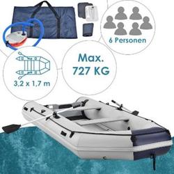 ArtSport Schlauchboot Paddelboot grau mit Aluboden - 3,80m