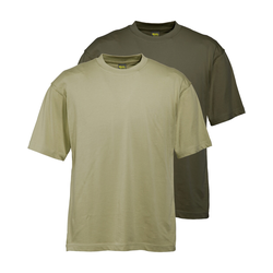 Wald & Forst T-Shirt 2er-Pack Schilf + Oliv (Größe: S)
