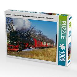 Dampflok der Harzer Schmalspurbahnen 1991 am Hp Nordhausen Krimderode Lege-Größe 64 x 48 cm Foto-Puzzle Bild von Michael Bromm Puzzle