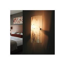 Licht-Erlebnisse Wandleuchte ELINA Moderne Wandlampe Glas eckig E27 Flurlampe Lampe