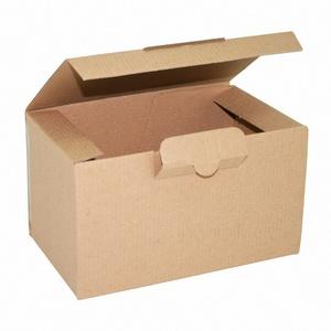100x Faltkarton Warenpost International Auslandsversand 190x110x110mm braun