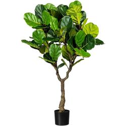 Kunstbaum Ficus lyrata Ficus lyrata, Creativ green, Höhe 150 cm