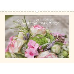 Brautstrauß und Ringe (Wandkalender 2021 DIN A3 quer)