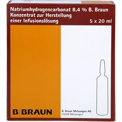 NATRIUMHYDROGENCARBONAT B.Braun 8,4% Glas 100 ml