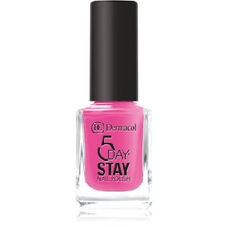 Dermacol 5 Day Stay langanhaltender Nagellack Farbton 35 Pink Ride 11 ml