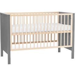 Kinderbett MIA, inkl. Matratze, 60 x 120 cm, grau
