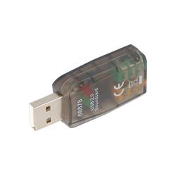 AccuCell Soundkarte USB 2.0 zum Anschluss von Mikrofon und Computer-Kabel