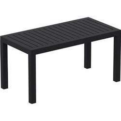 Lounge Tisch OCEAN I Wetterfester Gartentisch aus UV-beständigem Kunststoff I wetterfest und UV-beständig I robuster Gartentisch... schwarz