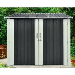 Gartenhaus aus Metall für 3 Fahrräder anthrazit 3,32m² + Verankerungskit X-METAL