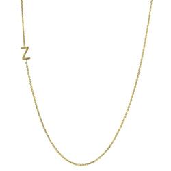 Personalisierte Halskette aus Gold mit Buchstabe Iver