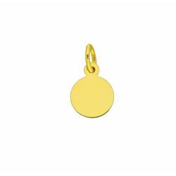 Adelia´s Kettenanhänger 333 Gold Gravurplatte Anhänger Ø 8 mm
