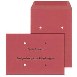 MAILmedia Freistempler-Umschläge DIN B4 ohne Fenster rot 250 St.