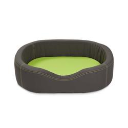 WOLTERS VIP Lounge Nylon Hundebett, S: 68 x 48cm dunkelgrau/lime