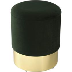 Woltu Sitzhocker, Sitzhocker mit Samtbezug, rund grau