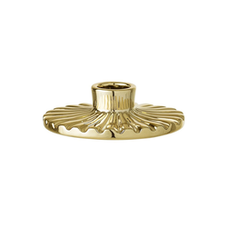 Bloomingville Kerzenhalter Bloomingville Kerzenhalter Rund Porzellan gold