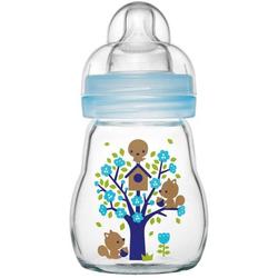 MAM Feel Good - Babyflasche aus Glas 170ml blau